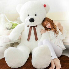 "Hot GIANT CUTE WHITE PLUSH TEDDY BEAR HUGE SOFT 100% COTTON TOY 31"" NEW Sweet"