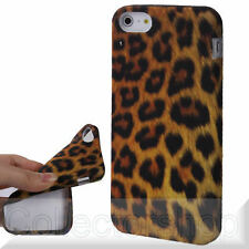 Leopard Series Yellow Background TPU Shell for iPhone 5 SALE !!