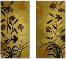 Extra Large Orchid Hand Painted Oil Paintings 48x24in x 2 pcs= 48x48in