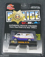 Lansing Police Illinois 1975 Chevy Van  Racing Champions # 102 FREE SHIPPING