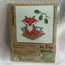 MOUSELOFT STITCHLETS CROSS STITCH KIT ~ IN THE WOODS ~ FERDINAND FOX ~ NEW