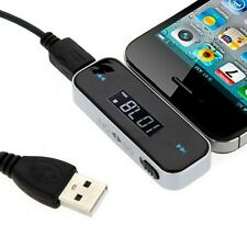 3.5mm Car Kit Handsfree FM Transmitter for iPhone 4 4S 5 5S iPod MP3 Cell Phone