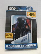 Star Wars 3-D Playing Cards With Collectible Embossed Tin Cartamundi NIB 2011!