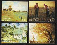 Bhutan Art Vincent van Gogh Famous Painting 3D MLH 1984 stamps