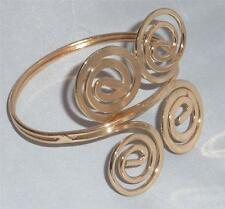 Swirl Designer look Gold Tone Upper Arm Bangle/ Cuff/ Bracelet  D3
