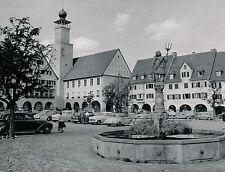 FREUDENSTADT c. 1960 - Place Fontaine Autos Allemagne DIV 6744