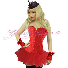 Corset Tutu Skirt Hen Party Burlesque Fancy Dress Costume Halloween Plus Size UK