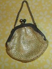Antique COIN PURSE BAG w/ CHAIN & FRAME,2 inch sz, SWEET for Bisque Babe Doll