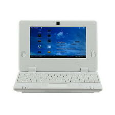 "BRAND NEW 7"" NETBOOK MINI LAPTOP WIFI ANDROID 4GB NOTEBOOK PC UK STOCK WHITE"