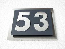 Hausnummer Edelstahl Anthrazit Ral 7016 Design Verona V2A 2-stellig 1-9 a-h A-H