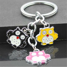 FD4230 Creative Nice Owl Pendants Key Ring Key Chain Keychain String Cute Gift♫