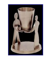 JUDAICA COLLECTIBLE JEWISH HEBREW GIORA OUR LOVE KIDDUSH CUP GOBLET VELVET BOX
