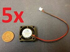 5x GDT mini Cooler 12V 2pin 2510 25x25x10mm DC Cooling Fan micro brushless c7