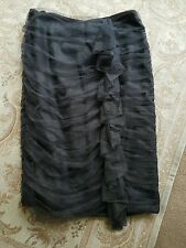womens monsoon special occasion ruched pencil skirt grey size 10 wedding