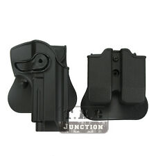Tactical Retention Rotate Pistol Holster for Beretta 92 96 M9 w/Magazine Pouch