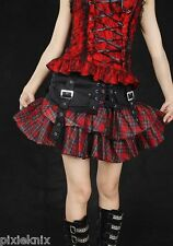Red Tartan Skirt with Detachable Corset Belt GLP Goth Lolita Punk 61130