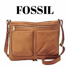 FOSSIL Piper Small Crossbody Bag Camel Tan Leather ZB6816235 NEW **FAST SHIP!!
