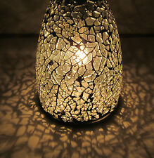 """Clear Mosaic Tumbler Thick Glass Neckless 1 1/4"""" Open Pendant Shade Light Lamp"""
