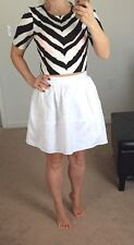 Gorgeous Express Fit And Flate Mini Skirt White Sexy Size 2 New