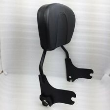 Black Detachable Sissy Bar Backrest for Harley Touring Street Glide FLHX 97-08