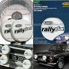 Ring Rally Giant 7 inch Car 4x4 Van Round Driving Lamps White Stone Guard Covers