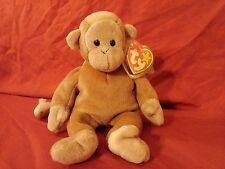 Retired Ty Beanie Baby Bongo Born August 17, 1995 Teddy Bear