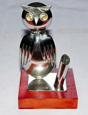 OWL METAL ART SCULPTURE PEN HOLDER