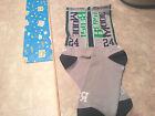 """Seattle Seahawk Marshawn Lynch """"Beast Mode"""" athletic socks (Mens, LG, Grey)"""