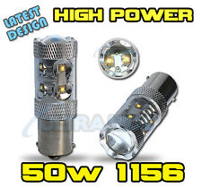 2x P21W 50W HIGH POWER CREE LED 1156 382 BA15s REVERSE BULBS AUDI DRL DAYTIME