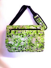 Messenger Sling Body Bag School Purse Green Peace Hearts   Free Ship Shoulder