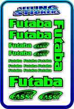 FUTABA SERVO RADIO RX TX 2.4G FLIGHT REMOTE CONTROL STICKERS FASST GREEN BLACK