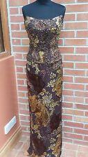 Beautiful silk printed evening dress/scarf by jovani size 12