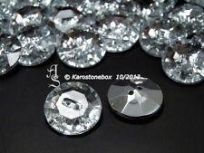 """1 Schmuck Crystal Strass Knopf Knöpfe 20mm/32"""" Karostonebox Aufnähsteine"""