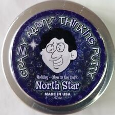 "Christmas North Star glow in dark Holiday Crazy Aaron's Thinking Putty 2"" tin"