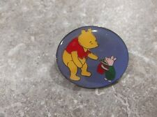 DISNEY UK LARGE CLASSIC WINNIE THE POOH AND PIGLET OVAL CHRISTMAS PIN HTF
