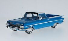 Spark 1/43 1959 Chevrolet Impala El Camino Blue with White Top S2906
