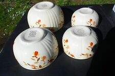 Vintage Halls Superior Jewel Tea Autumn Leaf 4 mixing bowl set x2-6 in, 8in, 9in