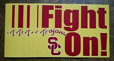 """USC TROJANS FOOTBALL SCHEDULE """"FIGHT ON!"""" POSTER"""