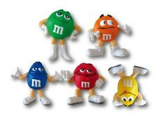 M&M CANDY Character PVC Mini Figure Collectible Store Display Set of five F/S