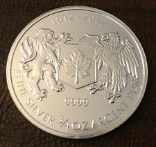 2012 Canada 3/4 oz Silver War of 1812 Coin BU .9999 Silver