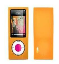 Housse etui coque silicone orange iPod Nano 5 5G + FILM