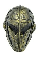 Outdoor GoldenPaintball Airsoft Full Face Protection Templar Mask Cosplay A563