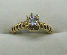 Fancy Style 9ct Gold Tanzanite And Diamond Ring