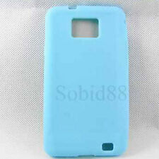 Soft Blue Cover Rubber Silicone Gel Case For Samsung Galaxy S2 SII i9100