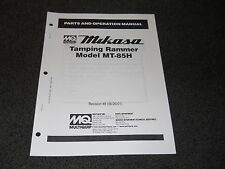 Multiquip Mikasa MT-85H Tamping Rammer parts operation manual