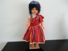 Madeira Portugal Antique 1960s Doll in Traditional Costume 17 inch Souvenir