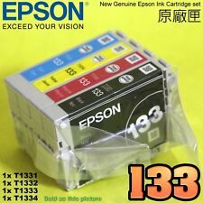 GENUINE EPSON 133 Ink Cartridge T1331 T1332 T1333 T1334 TX120 NX120 TX420 430