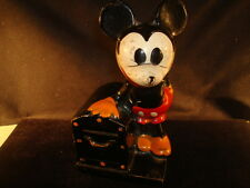 "Rare Antique 1930's Mickey Mouse Coin Bank ""Walt Disney - Crown Toy"""