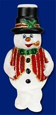 MR. FROSTY THE SNOWMAN OLD WORLD CHRISTMAS FROSTED GLASS LIGHT COVER NWT 52016