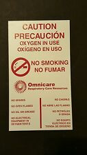 5 Omnicare Caution Oxygen in Use No Smoking Magnets